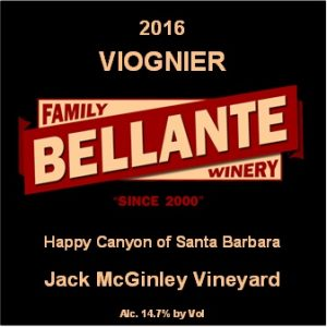 2016 Viognier, Jack McGinley Vineyard (full cases only) – OC Fair SILVER MEDAL