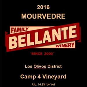 2016 Mourvedre, Camp 4 Vineyard – OC Fair GOLD MEDAL