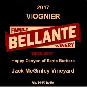 2017 Viognier, Jack McGinley Vineyard (full cases only) – OC Fair SILVER MEDAL
