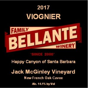 2017 Viognier, Jack McGinley Vineyard, New French Oak Cuvee