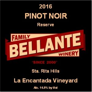 2016 Pinot Noir Reserve, La Encantada Vineyard – Rated 91 pts by Wine Enthusiast