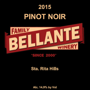 2015 Pinot Noir (full cases only) – OC Fair SILVER MEDAL