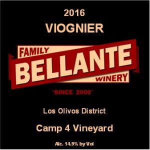 2016 Viognier, Camp 4 Vineyard – Wine Enthusiast 90 pts