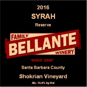 2016 Syrah Reserve, Shokrian Vineyard – OC Fair GOLD MEDAL