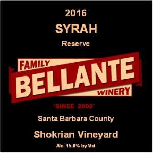 2016 Syrah Reserve, Shokrian Vineyard