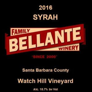 2016 Syrah, Watch Hill Vineyard