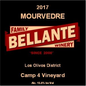 2017 Mourvedre, Camp 4 Vineyard