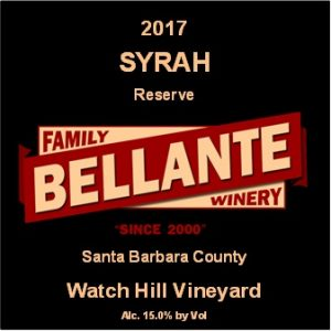 2017 Syrah Reserve, Watch Hill Vineyard – 93 pts Wine Enthusiast, Editor's Choice
